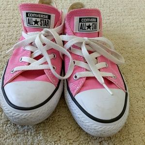 Pink Converse sneakers, only worn a few times.